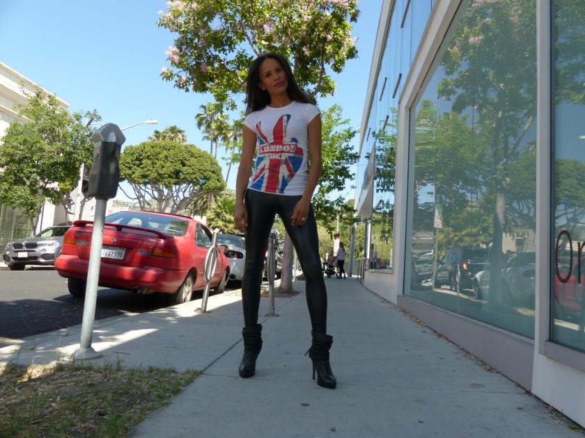 Amanda Garrigus - American Apparel vegan leather legging