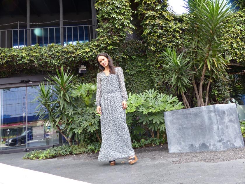 Amanda Luttrell Garrigus Long Grey Dress Side Stepping