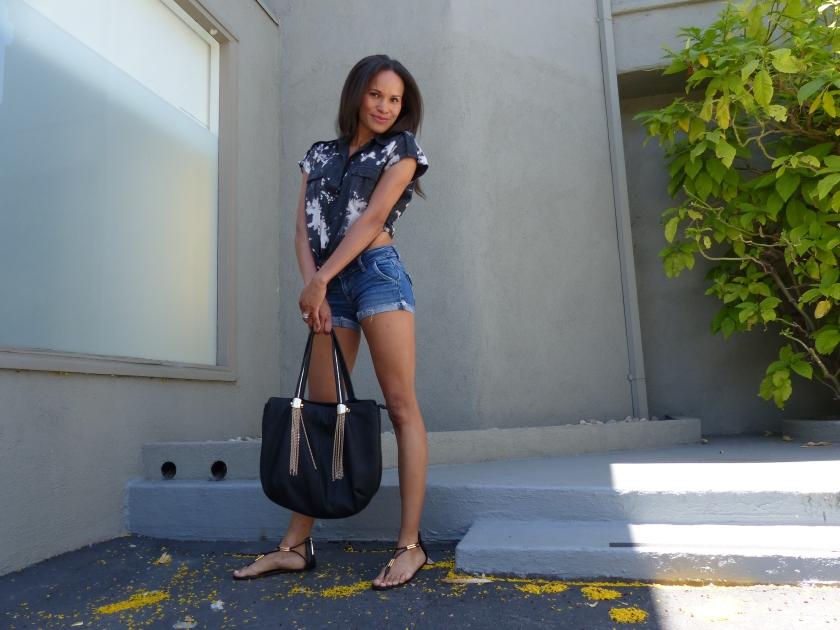 Amanda Garrigus - Denim Shorts