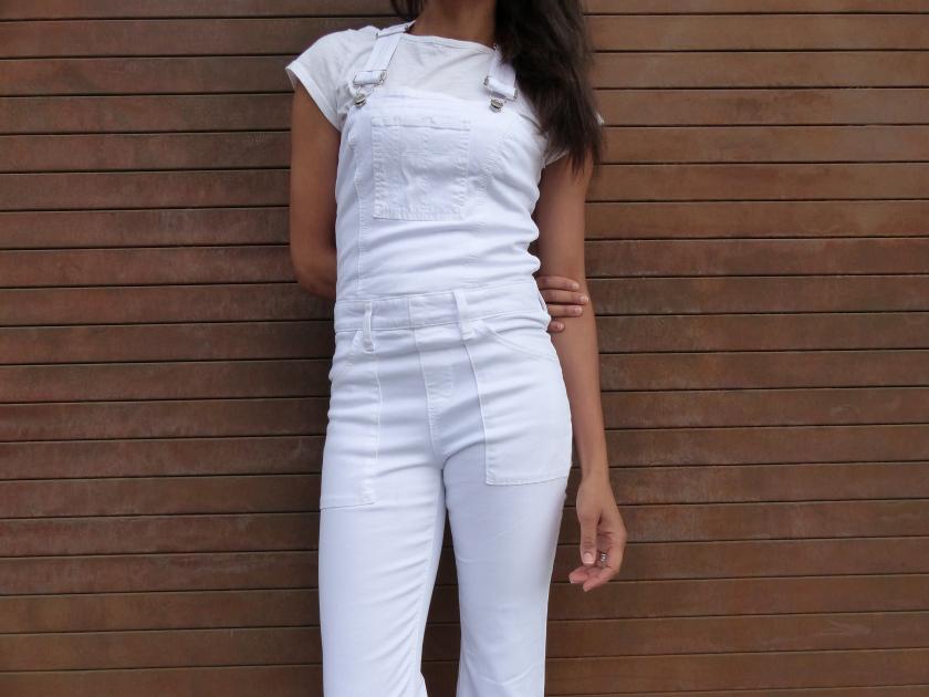 Amanda Garrigus White Joe's Jeans Jumpsuit