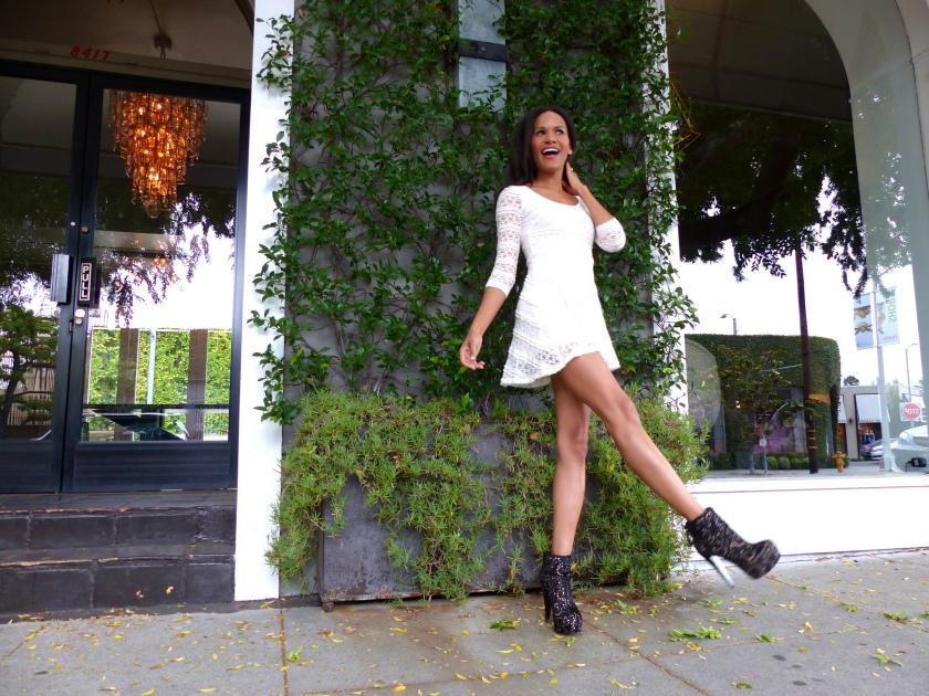Amanda Garrigus - White Mini Dress