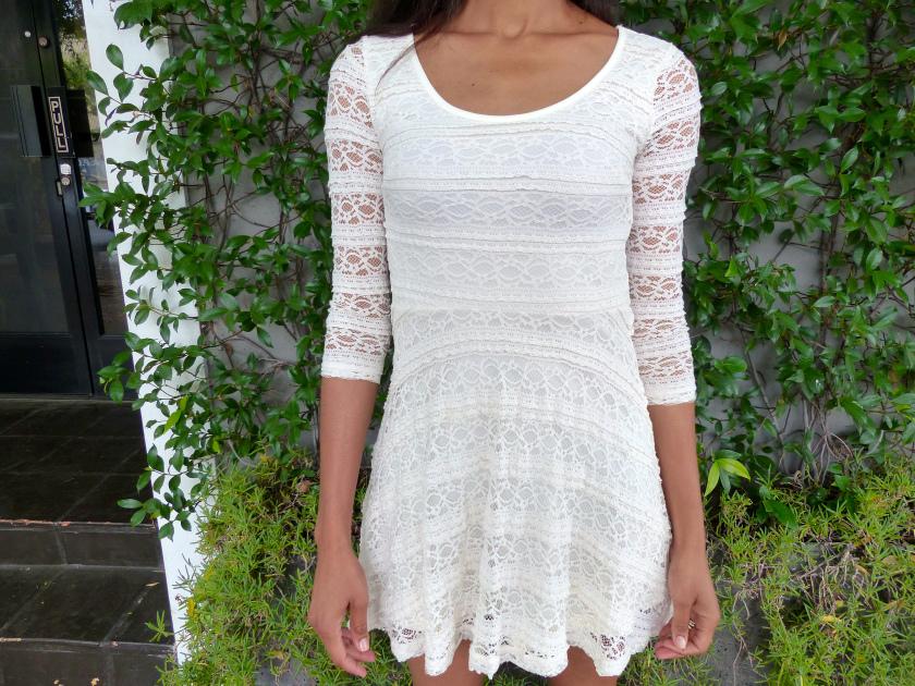 Amanda Garrigus - White Skater Dress