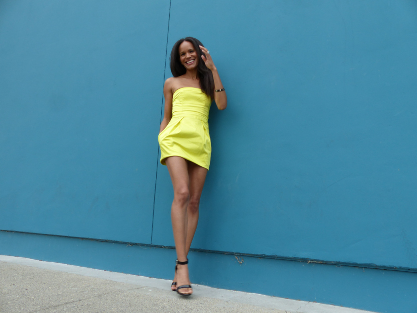 Amanda Garrigus - Strapless Yellow Dress