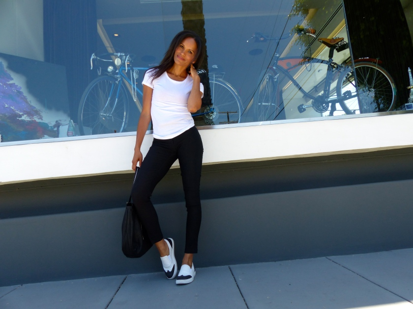 Amanda Garrigus - Black & White Kenneth Cole Sneakers
