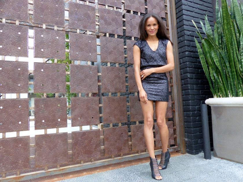 Amanda Garrigus Black Sparkly LDB