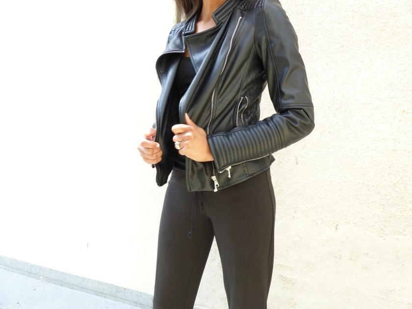 Amanda Garrigus - Black Zara Moto Jacket
