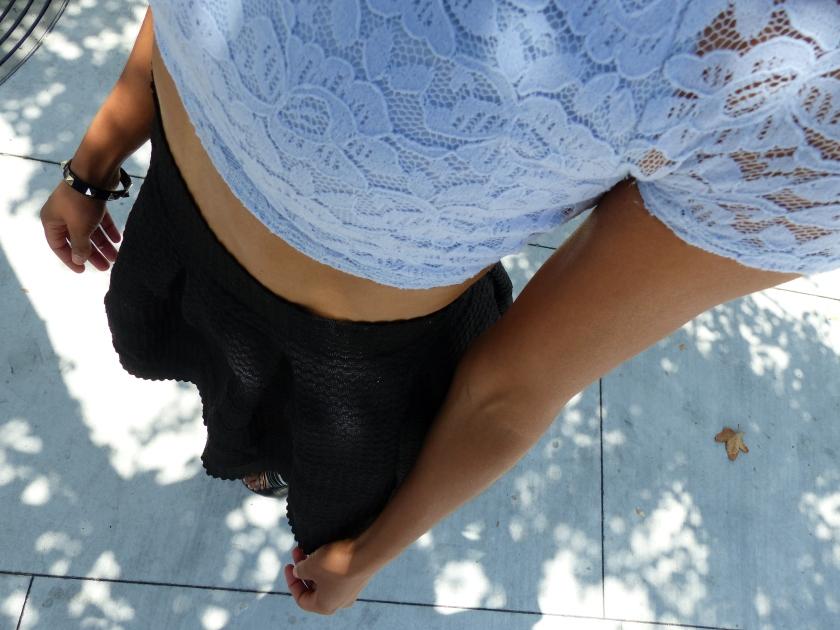 Amanda Garrigus - Blue Cropped Top