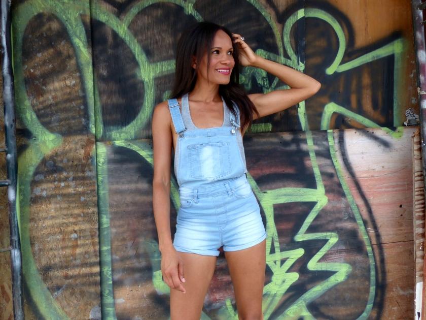 Amanda Garrigus - H&M Denim jumpsuit