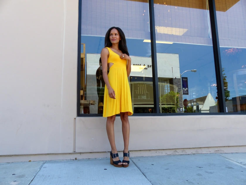 Amanda Garrigus - Yellow Rachel Pally Dress