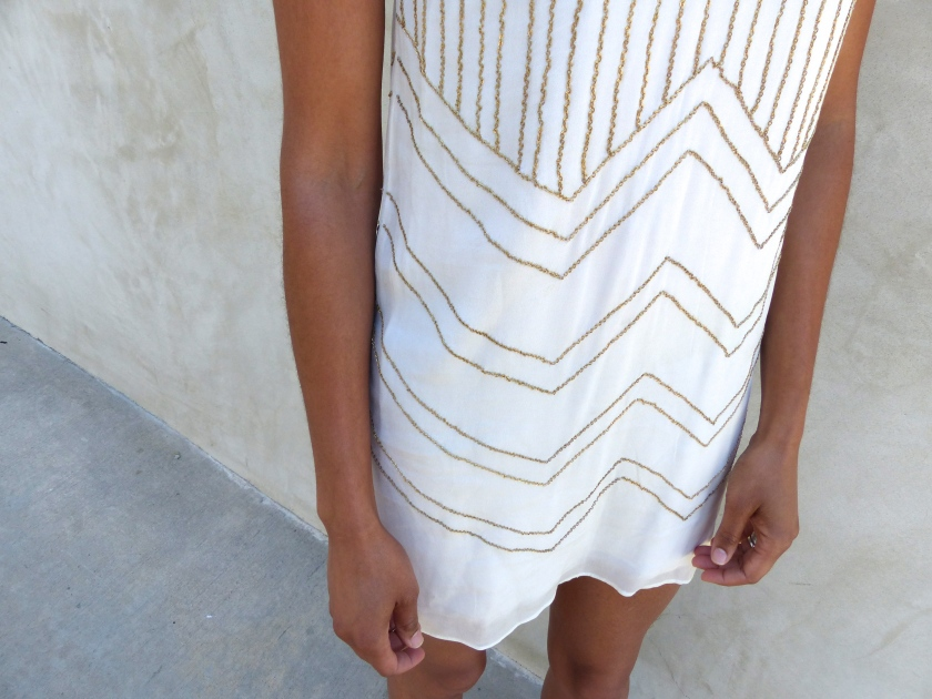 Amanda Garrigus Corey Lynn Calter Shift Dress Detail