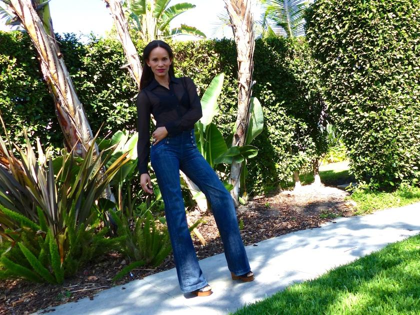 Amanda Garrigus High waist wide leg denim
