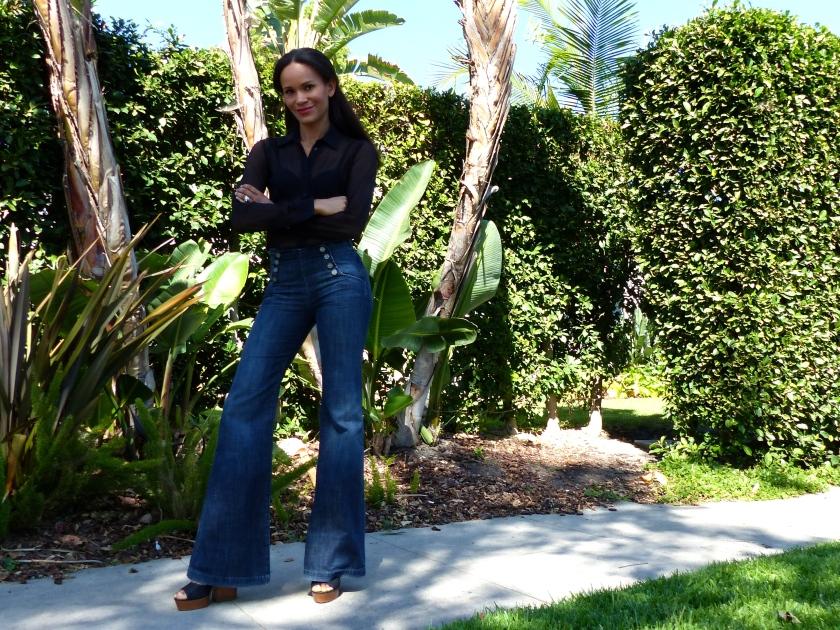 Amanda Garrigus high waist wide leg jean