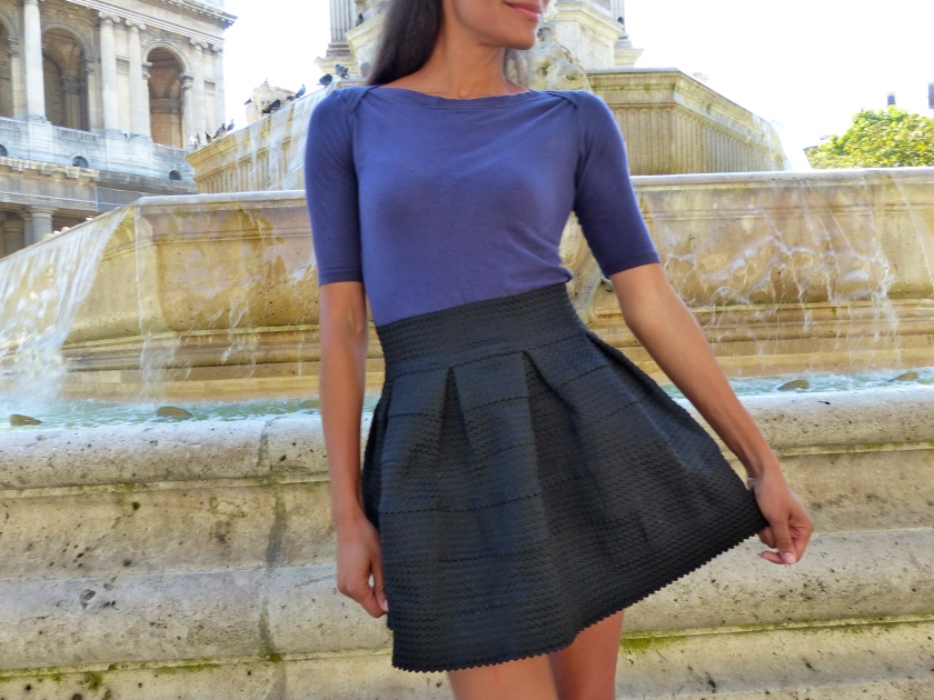 Amanda Garrigus Paris Black Mini skirt