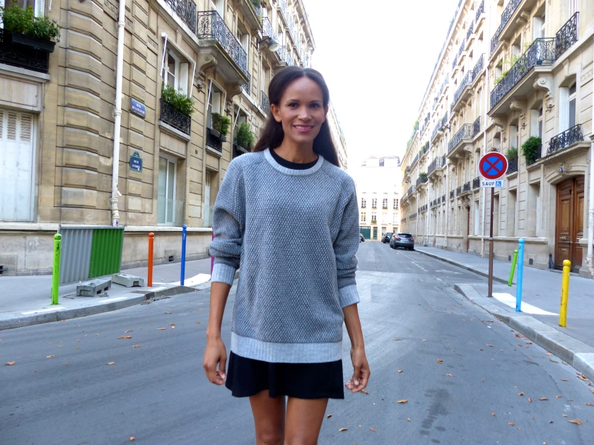 Amanda Garrigus Loft design by… sweater and Zara dress Paris