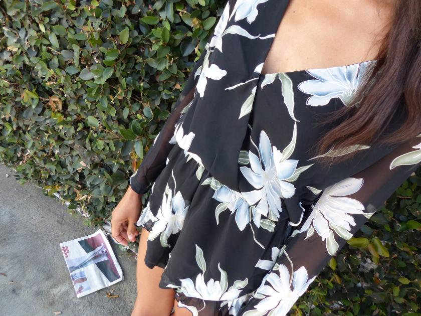 Amanda Garrigus Nasty Gal floral romper