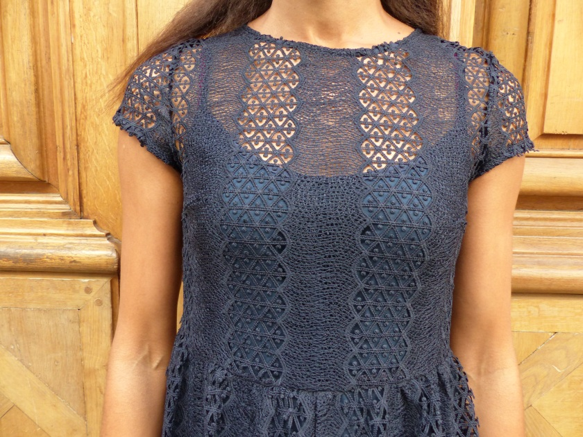 Amanda Garrigus Paris blue lace dress detail