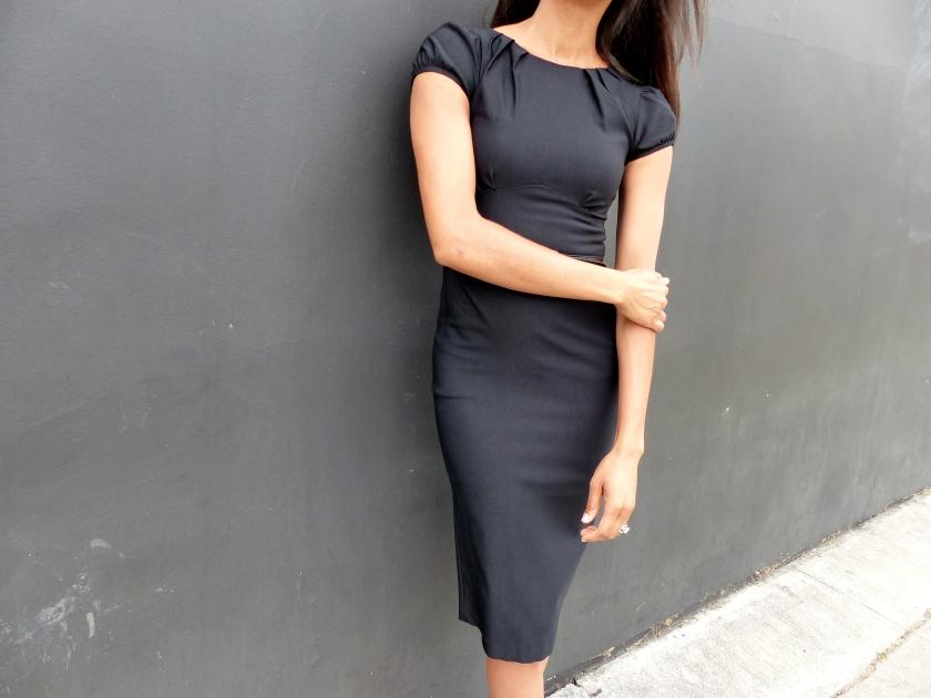 Amanda Garrigus Stop Staring Black Pencil skirt dress