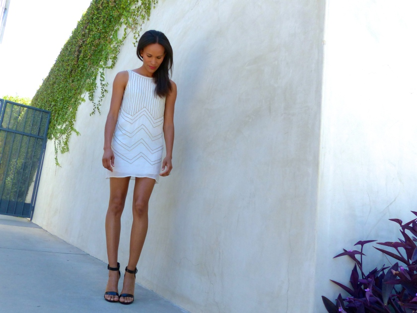 Amanda Garrigus White Corey Lynn Calter Shift Dress