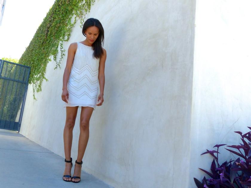 Amanda Garrigus White Corey Lynn Calter Shift Dress