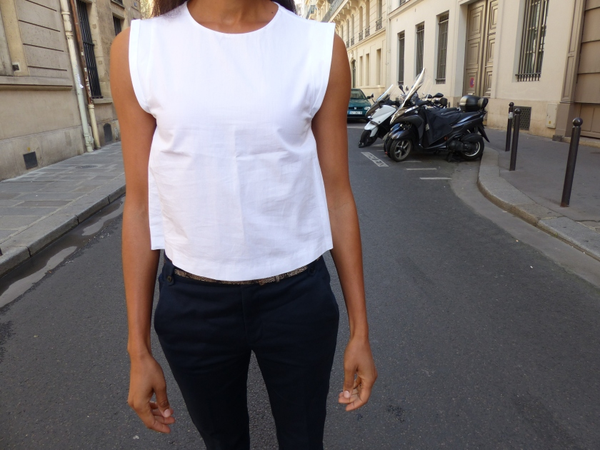 Amanda Garrigus white zara top and pants