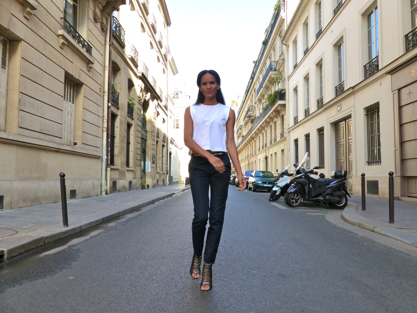 Amanda Garrigus Zara look in Paris