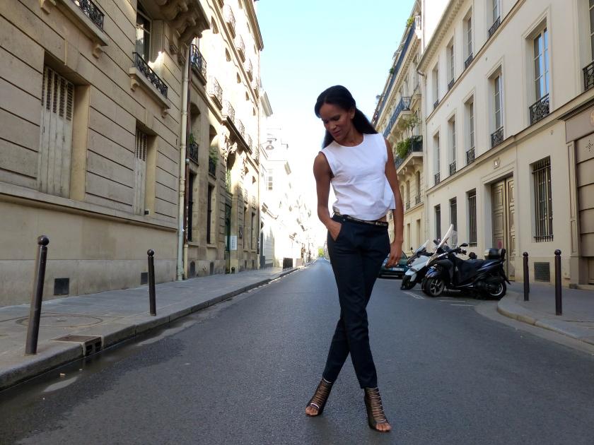 Amanda Garrigus Zara white shirt