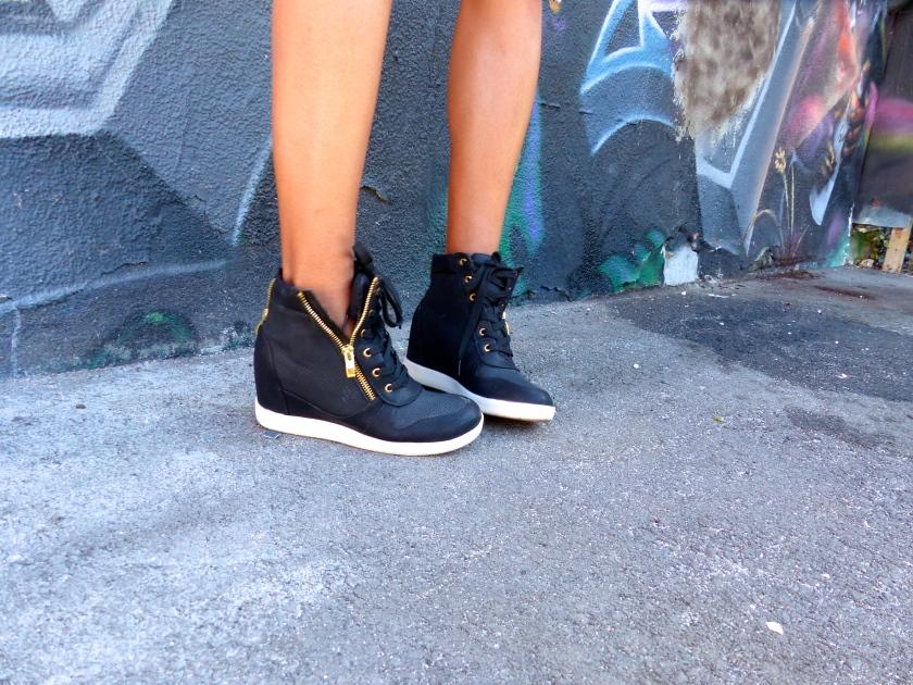 Amanda Garrigus JustFab Black and White Sneakers