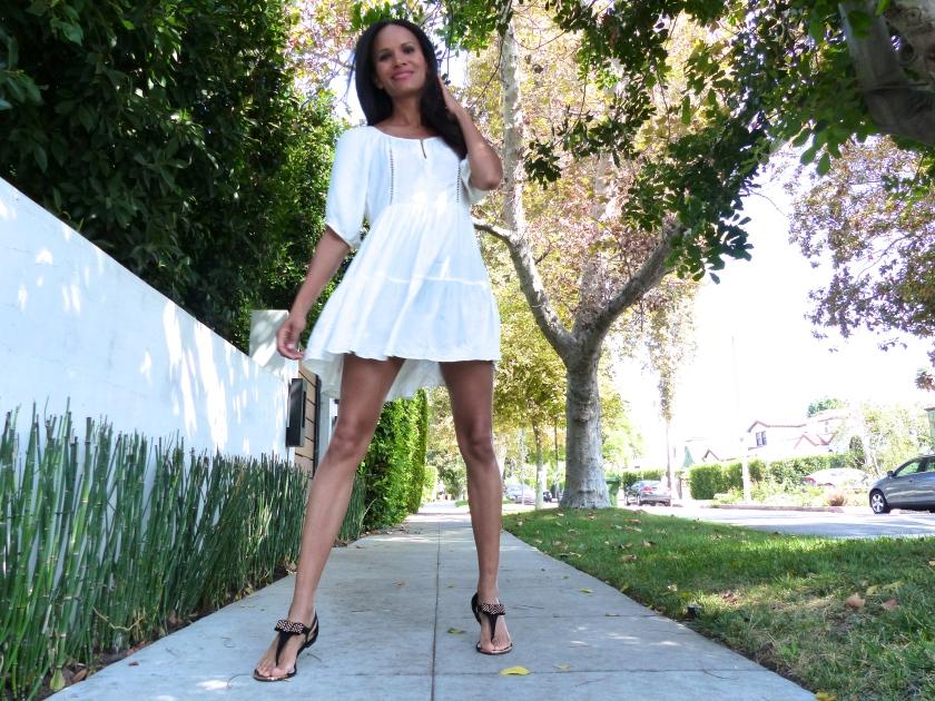 Amanda Garrigus Forever 21 black bow sandal