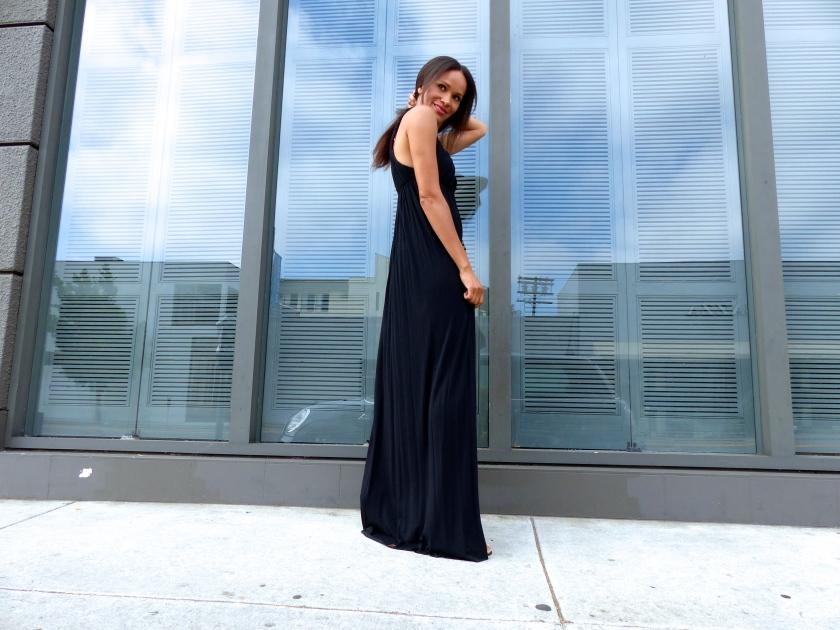 Amanda Garrigus Street Style Rachel Pally jersey dress