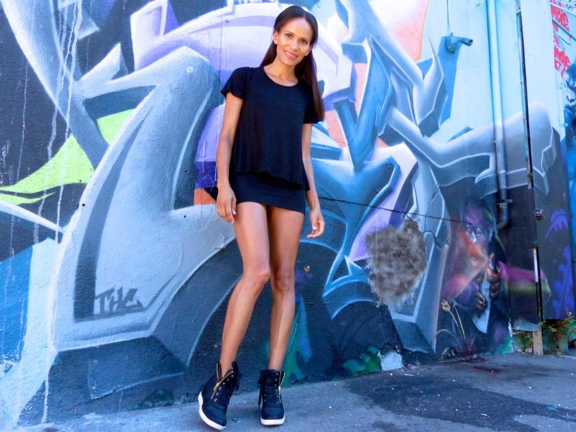 Amanda Garrigus Black and White platform sneakers