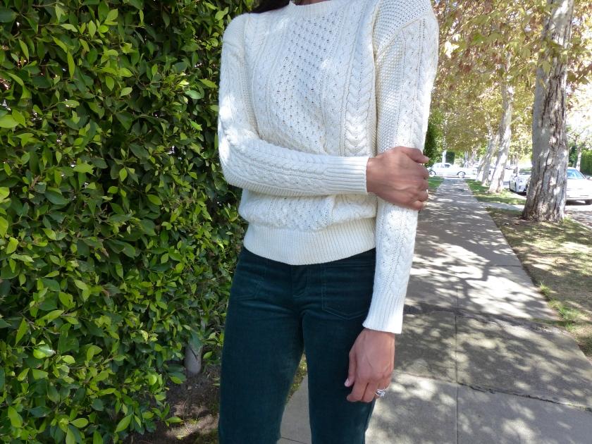Amanda Garrigus Chunky Knit Mango Sweater Detail