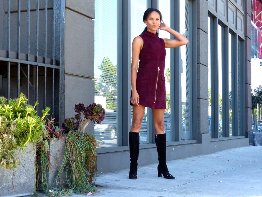 Amanda Garrigus Maroon Mini Dress