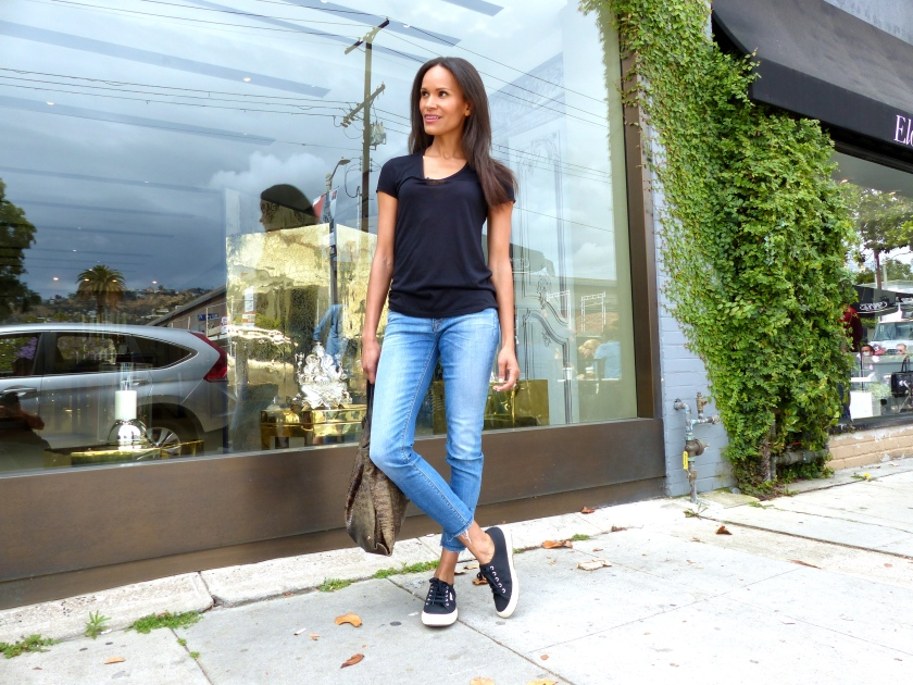 Amanda Garrigus Hudson Jeans and a Kate Spade Bag