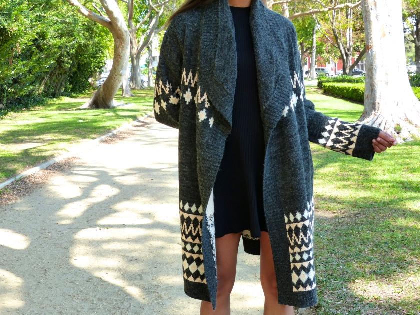 Amanda Garrigus MinkPink Cardigan Sweater Detail