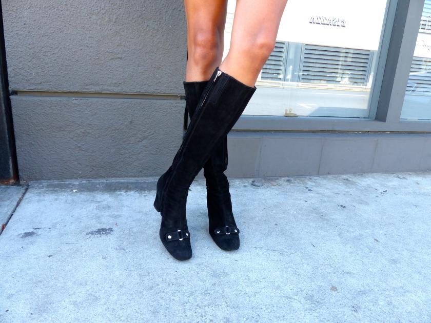 Amanda Garrigus Sigerson Morrison Black Suede knee boots