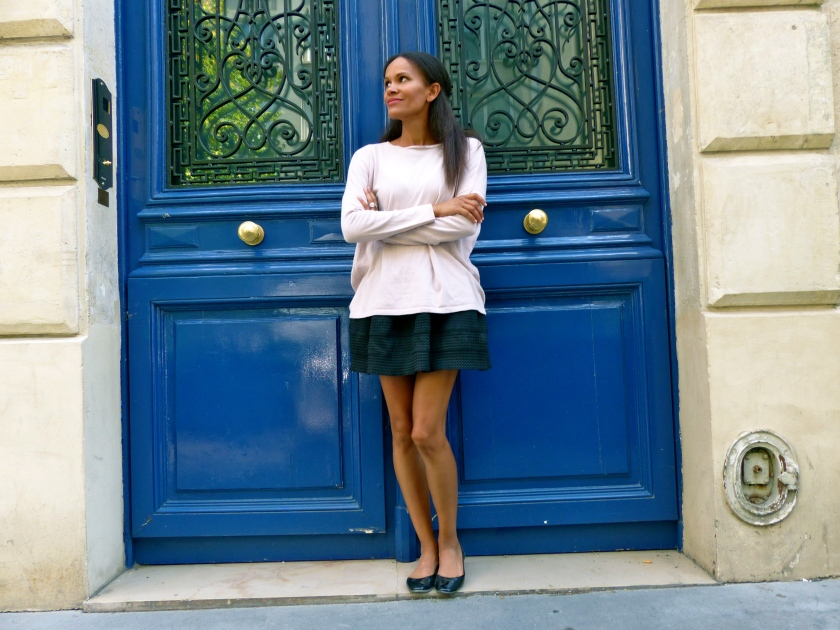 Amanda Garrigus Zara Sweater and a Blue Door