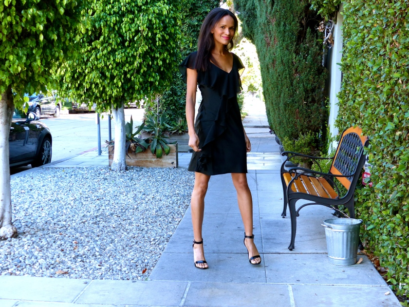 Amanda Garrigus Black Slip Dress