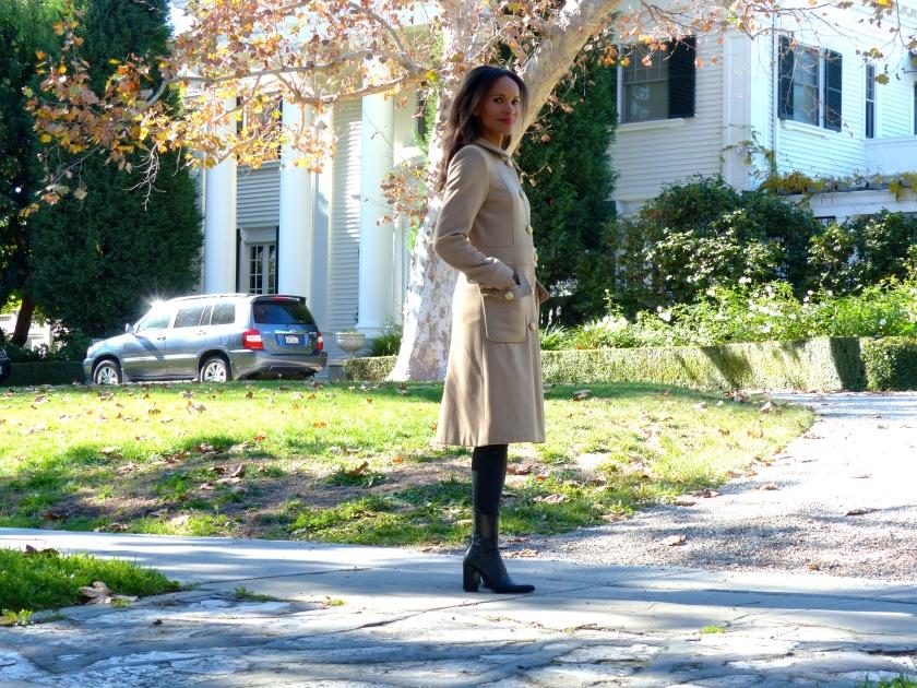 Amanda Garrigus Camel Coat