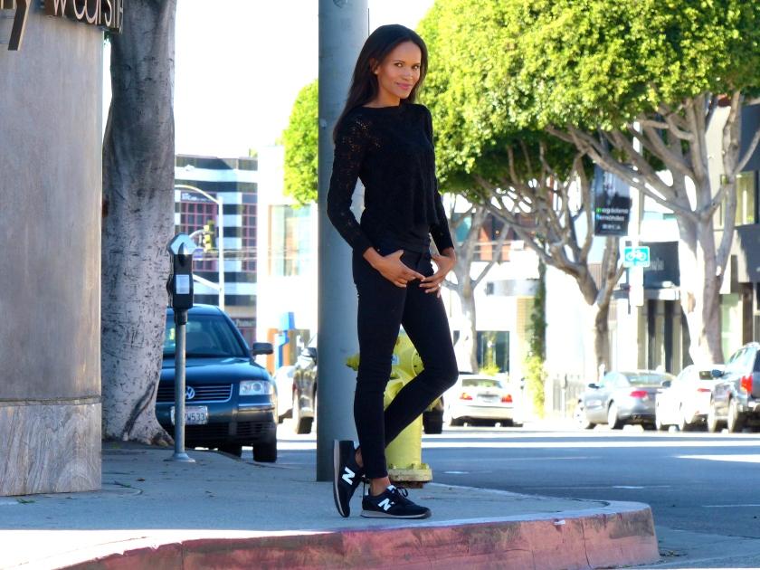 Amanda Garrigus Frame Denim Black Jeans
