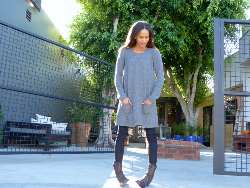 Amanda Garrigus Grey Cashmere Sweater Dress