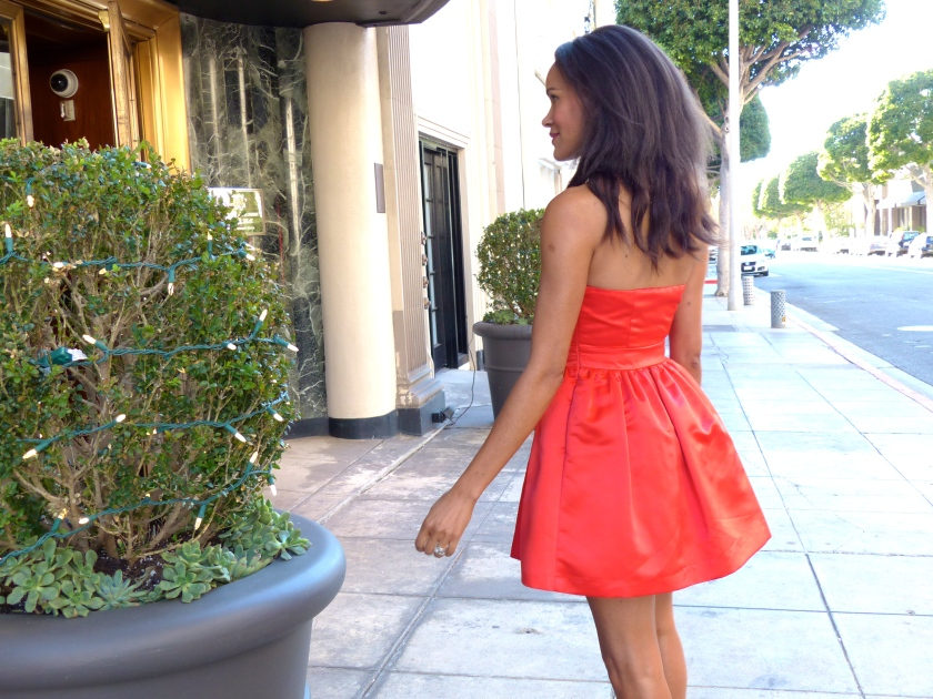Amanda Garrigus Red Forever 21 Strapless Cocktail Dress