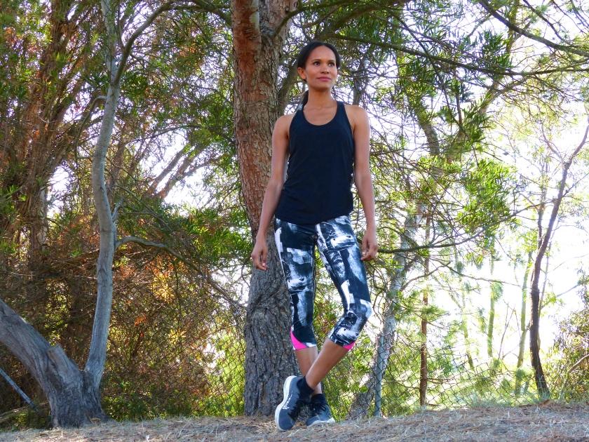 Amanda Garrigus Under Armour in the Hollywood Hills