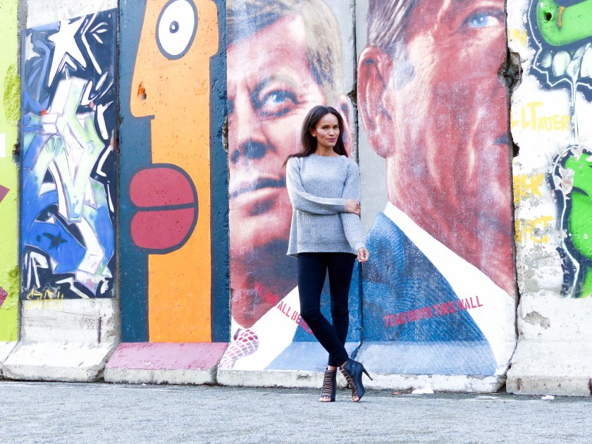 Amanda Garrigus Berlin Wall and Joe Fresh Jumper LR