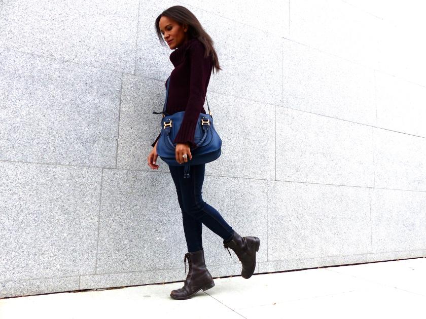 Amanda Garrigus Chloe Blue Marci Bag