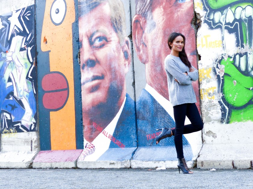 Amanda Garrigus Joe Fresh Sweater and the Berlin Wall LR