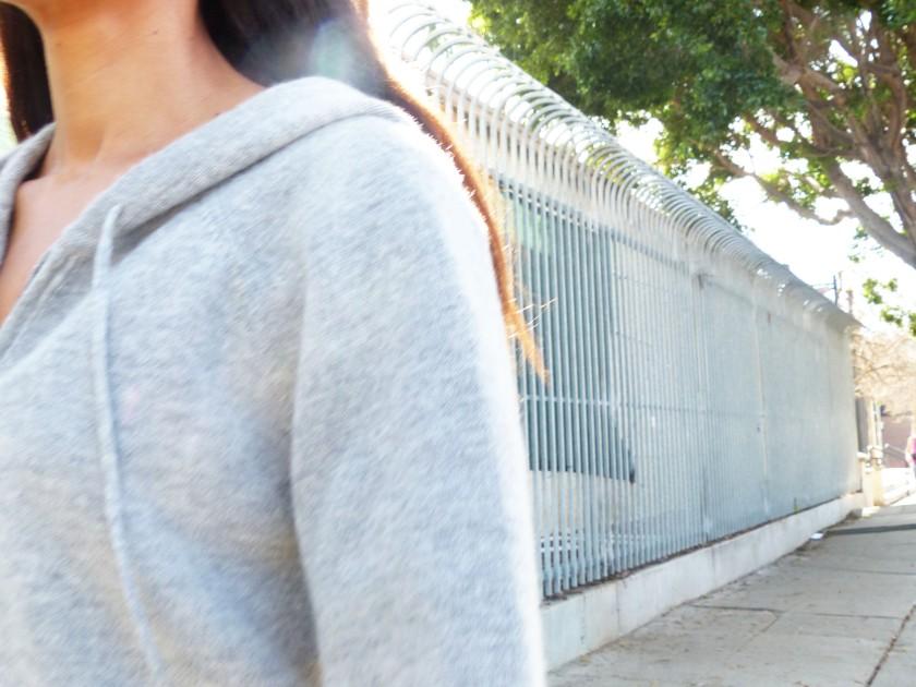 Amanda Garrigus cashmere hoodie details
