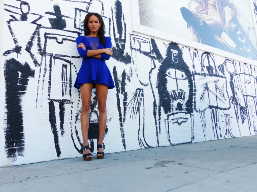 Amanda Garrigus Electric Blue Skater Dress