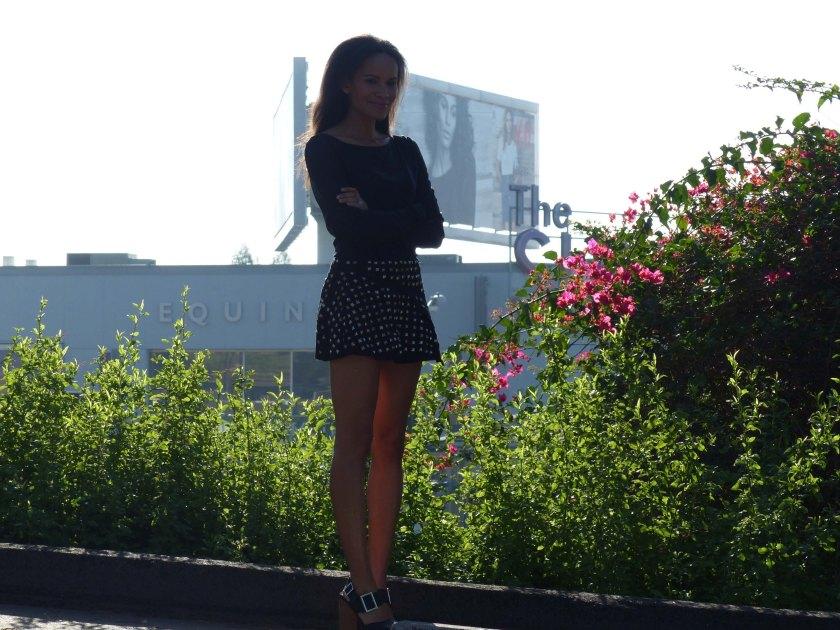 Amanda Garrigus in Forever 21 Studed Mini Skirt