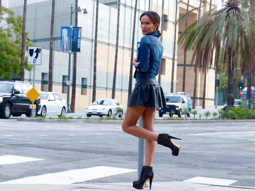 Amanda Garrigus Pleather Forever 21 Dress Alice & Olivia boots