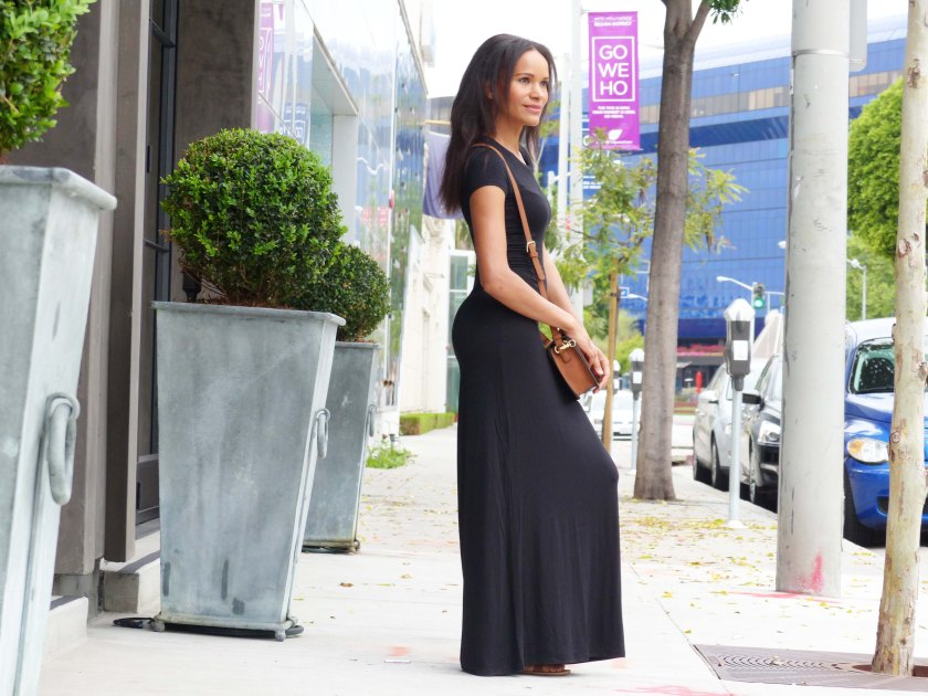 Amanda Garrigus Black Maxi Dress